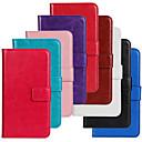 رخيصةأون حافظات / جرابات هواتف جالكسي S-غطاء من أجل Samsung Galaxy حالة سامسونج غالاكسي محفظة / حامل البطاقات / مع حامل غطاء كامل للجسم لون سادة جلد PU إلى S5 Mini