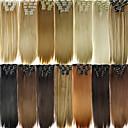 hesapli Makyaj ve Tırnak Bakımı-Klips İçeri / Dışarı Saç parça Sentetik Saç Saç Parçası Ek saç Düz Uzun Günlük