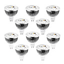 abordables Focos LED-10pcs 4 W 320 lm MR16 Focos LED 4 Cuentas LED LED de Alta Potencia Regulable Blanco Cálido / Blanco Fresco / Blanco Natural 12 V / 10 piezas / Cañas