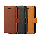 cheap iPhone Cases-Case For iPhone 5 Apple iPhone 5 Case Card Holder Wallet with Stand Flip Full Body Cases Solid Color Hard PU Leather for iPhone SE/5s