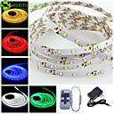 hesapli LED Şerit Işıklar-SENCART 5m Esnek LED Şerit Işıklar 300 LED'ler 3528 SMD Sıcak Beyaz / RGB / Beyaz Kesilebilir / Bağlanabilir / Araçlar İçin Uygun 100-240 V / 12 V 1pc / Kendinden Yapışkanlı