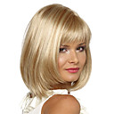 cheap Brooches-Synthetic Wig Straight Bob Haircut / With Bangs Synthetic Hair Side Part Wig Women's Short Capless Blonde