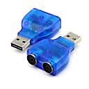 hesapli USB Kabloları-pc fare klavye mavi için ps2 ps / 2 dönüştürücü adaptörü konnektörüne usb 2.0