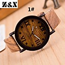 cheap Brooches-Women's Wrist Watch Quartz Casual Watch Leather Band Analog Vintage Stripes Fashion Multi-Colored - 3# Medium Brown 5#