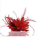 hesapli Saç Takıları-Şifon / İmitasyon İnci / Dantel Çiçek - Fascinators / Çiçekler / Başlık 1pc Düğün / Özel Anlar / Günlük Başlık