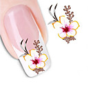 cheap Makeup & Nail Care-1 pcs Flower / Abstract / Fashion Water Transfer Sticker / 3D Nail Stickers Daily