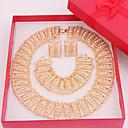 hesapli Takı Setleri-Mücevher-Kolyeler / Kolczyki / Yüzükler(alaşım / Yapay Elmas)Düğün / Parti / Günlük Düğün Hediyeleri