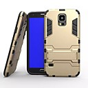 cheap Galaxy S Series Cases / Covers-Case For Samsung Galaxy Samsung Galaxy Case Shockproof / with Stand Back Cover Armor PC for S5