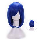 hesapli Makyaj ve Tırnak Bakımı-Sentetik Peruklar / Kostüm Perukları Doğal Dalgalar Bantlı Sentetik Saç Mavi Peruk Kadın's Bonesiz Mavi
