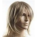 preiswerte Anime Cosplay-Synthetische Perücken Glatt Blond Wig Mit Pony Synthetische Haare Seitenteil Blond Perücke Herrn Kurz Kappenlos
