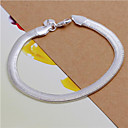 hesapli Masaüstü Düzenleyicileri-Geometrik Zincir & Halka Bileklikler - Som Gümüş Yılan Moda Bilezikler Gümüşî Uyumluluk Düğün Parti Günlük