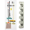 cheap Bathroom Gadgets-Wall Mounted 5 Position Kitchen Storage Mop Broom Organizer Holder Tool