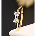cheap Rings-Women's Statement Ring two stone Ladies Fashion Alloy Ring Jewelry For Wedding Party Daily Casual 6 / 7 / 8 / 9 / Zircon