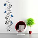 billige Dekorationsklistermærker-Dyr Former Blomster Tegneserie Vægklistermærker Fly vægklistermærker Dekorative Mur Klistermærker, PVC Hjem Dekoration