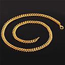 hesapli Kolyeler-Kadın's Zincir Kolyeler - Altın Kaplama Vintage, Parti, İş Sevimli Altın Kolyeler Mücevher Uyumluluk Parti, Halloween