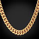 ieftine Coliere-Bărbați Coliere Choker Lănțișoare Guler Mariner Chain Modă 18K Placat cu Aur Placat Auriu Aliaj Auriu Coliere Bijuterii Pentru Nuntă Petrecere Zilnic Casual