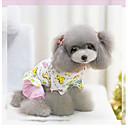 hesapli Köpek Giyim ve Aksesuarları-Köpek Tulumlar Pijamalar Köpek Giyimi Karton Mavi Pembe Pamuk Kostüm Uyumluluk İlkbahar & Kış Kış Kadın's Günlük / Sade