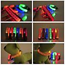 preiswerte Hundehalsbänder, Geschirre & Leinen-Hund Halsbänder LED-Lampen Wasserdicht Nylon Gelb Rot Grün Blau Rosa