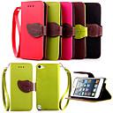 Χαμηλού Κόστους Θήκες/Καλύμματα για iPod-υψηλής ποιότητας κάτοχος της κάρτας πορτοφόλι pu δέρμα πορτάκι θήκη για το iPod touch 5 (διάφορα χρώματα)