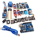 cheap Motherboards-20 in 1 Sensor Module Kit and Improved Version UNO R3 ATMEGA328P Board Module for Arduino