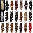 hesapli Makyaj ve Tırnak Bakımı-At Kuyrukları Saç parça Bukle Klasik Sentetik Saç 24 inç Ek saç Günlük