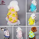 voordelige Hondenkleding & -accessoires-Kat Hond T-shirt Pyjama Hondenkleding Cartoon Geel Blauw Roze blauw/Geel Licht Roze Fleece Katoen Kostuum Voor huisdieren Heren Dames