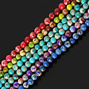 cheap Keychains-DIY Jewelry Stone Purple Red Green Blue Light Green Round Shape Bead DIY Necklace Bracelet