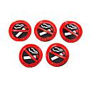 رخيصةأون الديكورات-5 قطع من البلاستيك اللين أي علامة التدخين الجدار نافذة ملصقا سيارة صائق