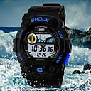 baratos Relógios Masculinos-SKMEI Homens Relógio de Pulso Quartzo 30 m Impermeável Relógio Esportivo LED PU Banda Digital Amuleto Preta - Vermelho Verde Azul