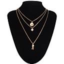 hesapli Küpeler-Kadın's Uçlu Kolyeler / katmanlı Kolyeler - Aşk, Çoklu Katman Gümüş, Altın Kolyeler Mücevher Uyumluluk Düğün, Parti, Günlük