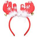 preiswerte Santa Anzüge-Weihnachts Party Artikel Rentier-Geweih-Stirnreif Klingglöckchen Textil Feder Baumwolle Spielzeuge Geschenk 1 pcs
