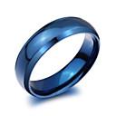 Χαμηλού Κόστους Δαχτυλίδια-Ανδρικά Band Ring Τιτάνιο Ατσάλι κυρίες Μοντέρνα Μοδάτο Δαχτυλίδι Κοσμήματα Μπλε Για Πάρτι Καθημερινά Causal 7 / 8 / 9 / 10 / 11
