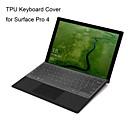 billige Kindle Etuier-xskn ultratynde klar Gennemsigtig TPU tastatur hud gennemskinnelige tastatur huden til Microsoft Surface Pro 4, os layout