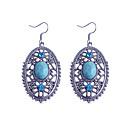 preiswerte Halsketten-Damen Kristall Tropfen-Ohrringe Krystall versilbert Ohrringe Schmuck Blau Für Party Alltag Normal