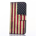 cheap Tablet Cases-Case For Samsung Galaxy Samsung Galaxy Case Card Holder Wallet with Stand Flip Full Body Cases Flag PU Leather for Xcover 3