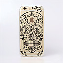 cheap iPhone Cases-Case For iPhone 5 Apple iPhone 5 Case Ultra-thin Transparent Pattern Back Cover Skull Soft TPU for iPhone SE/5s iPhone 5