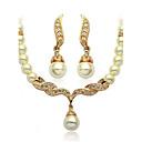 ieftine Machiaj & Îngrijire Unghii-Pentru femei Seturi de bijuterii femei Perle cercei Bijuterii Argintiu / Auriu Pentru Nuntă Petrecere Zilnic Casual / Cercei / Coliere