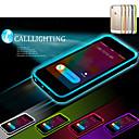 hesapli iPhone Kılıfları-Pouzdro Uyumluluk iPhone 5 / Apple iPhone 5 Kılıf LED Flaş Işığı / Şeffaf Arka Kapak Solid Yumuşak TPU için iPhone SE / 5s / iPhone 5