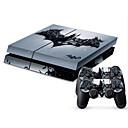 Χαμηλού Κόστους Αξεσουάρ PS4-B-SKIN PS4 PS / 2 Αυτοκόλλητο Για PS4 ,  Πρωτότυπες Αυτοκόλλητο PVC 1 pcs μονάδα