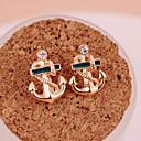 hesapli Küpeler-Kadın's Vidali Küpeler / Damla Küpeler - Altın Kaplama Çapa Kişiselleştirilmiş, Moda Altın Uyumluluk Parti / Günlük