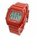 levne Pánské-Pánské Náramkové hodinky Digitální Pryž Bílá / Modrá / Červená Alarm Kalendář Chronograf Digitální Přívěšky - Bílá Červená Modrá / LCD