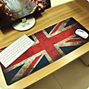 Недорогие Двухконтактные LED лампы-Британский флаг настроены прямоугольник не скользит резиновые супер большой размер игровой коврик для мыши коврик (67 * 30 * 0,3 см)