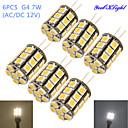hesapli LED Yer Işıkları-YouOKLight 6pcs 4W 250-300 lm G4 LED Mısır Işıklar T 27 led SMD 5050 Dekorotif Sıcak Beyaz Serin Beyaz AC 12V DC 12V