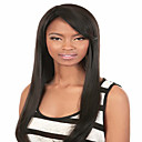 cheap Dog Clothing & Accessories-Synthetic Wig Straight Style Capless Wig Black Natural Black Synthetic Hair Women's Black Wig Medium Length
