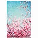رخيصةأون أغطية أيفون-غطاء من أجل Apple iPad Mini 3/2/1 حامل البطاقات / مع حامل غطاء كامل للجسم زهور جلد PU