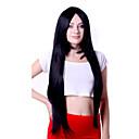 ieftine Machiaj & Îngrijire Unghii-Peruci Sintetice Drept / Kinky Straight Stil Fără calotă Perucă Negru Păr Sintetic Pentru femei Perucă