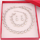 ieftine Seturi de Bijuterii-Pentru femei Seturi de bijuterii femei cercei Bijuterii Alb perlă Pentru Nuntă Petrecere Ocazie specială Aniversare Zi de Naștere Logodnă / Cadou / Zilnic / Cercei / Coliere