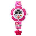 baratos Relógios Femininos-Digital Bracele Relógio PU Banda Amuleto / Fashion Rosa / Roxa