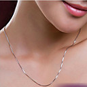 cheap Jewelry Sets-Women's Chain Necklace - Silver Plated Silver Necklace Jewelry For Wedding, Party, Daily