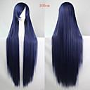 povoljno Nakit za tijelo-Sintetičke perike Ravan kroj Asimetrična frizura Sintentička kosa Prirodna linija za kosu Plava Perika Žene Dug Capless Plava